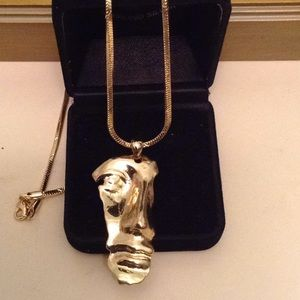 Work of art gold plated necklace NWOT